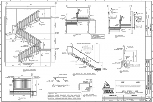 Stair & Handrail E-Sheet 1